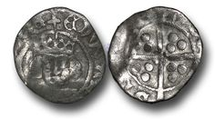 Edward IV (1461-1483), Penny, 0.49g., Heavy Cross and Pellets Coinage (1465), Drogheda mint, crowned facing bust of Edward, rev., long cross with  rose at the centre, (S.-; JBurns Dr-3H (type 3)), good fine.