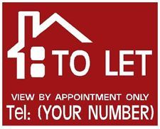 TO LET /FOR SALE Simple Personised sign boards X2 Sign Boards, Let It Be, Signs, Simple, Regulatory Signs, Novelty Signs, Sign, Dishes, Shop Signs