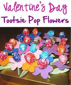 Valentine's Day Tootsie Pop Flowers! ~ at TheFrugalGirls.com ~ such a fun twist on classroom candy to pass out! #valentinesday #crafts #thefrugalgirls