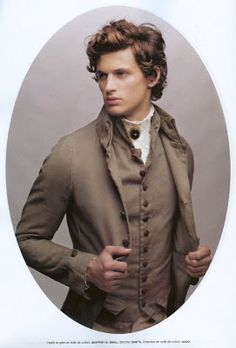 Regency period suit.  The appeal of men has just gone down hill compared to this time...