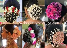 Indian Bridal Bun Hairstyles With Flowers!