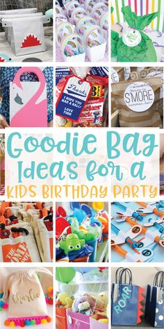 20 Creative Goodie Bag Ideas for Kids Birthday Parties on Love the Day Toddler Party Favors, Birthday Party Goodie Bags, Birthday Hampers, Party Gift Bags, Kids Birthday Gifts, Birthday Parties, Birthday Ideas, 4th Birthday, Preschool Birthday Treats