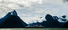 Queen Mary 2 in Milford Sound. Milford Sound, Queen Mary, 2 In, Mount Everest, Mountains, Nature, Photography, Travel, Naturaleza