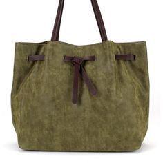 Belted Shopper Bag in Green ($109) via Polyvore featuring bags, handbags, tote bags, green tote, tote purses, zip tote bag, zip tote and brown shopping bags