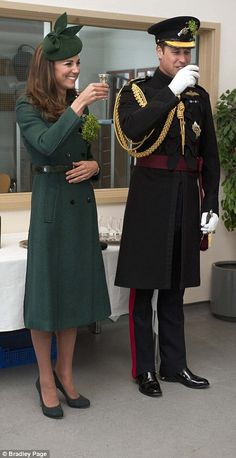 .Cheers to that! Kate and William sampled some sherry and Guinness at the St. Patrick's Day Parade.