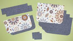 DIY BELT POUCH BAG [sewingtimes] Diy Belt Pouches, Diy Coin Purse, Coin Purse Pattern, Belt Purse, Pouch Pattern, Pouch Bag, Diy Pouch Tutorial, Diy Belts, Bag Patterns To Sew