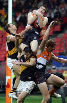 2012 round 12. Jeremy Cameron takes a hanger for GWS Giants