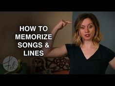 How to Memorize Songs & Lines - For Singers & Actors - Felicia Ricci - YouTube