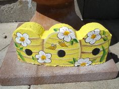 Bumble Bees Painted Paver