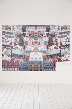 Plum & Bow Parisian Rooftop Wall Mural - Urban Outfitters \\ Wouldn't mind this view everyday.