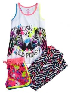 Justice is your one-stop-shop for on-trend styles in tween girls clothing & accessories. Shop our Love My Wild Friends Pajama Set. Shop Justice, Justice Pajamas, Pajama Outfits, Kids Outfits, Cool Outfits, Cute Pjs, Cute Pajamas, Tween Fashion, Girl Fashion