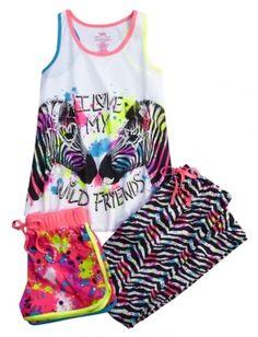 LOVE MY WILD FRIENDS PAJAMA SET | GIRLS PAJAMAS CLOTHES | SHOP JUSTICE