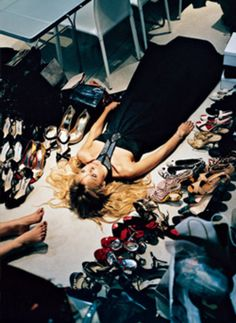 I'd happily pass out in a room full of designer shoes