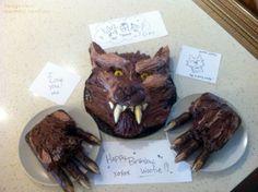 Werewolf birthday cake by Tandye, the best lady in my life.