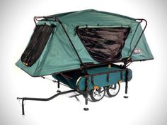 Looking for comfort and storage on your camping spree, hook bike pop up tent to your bicycle and you are good to go.