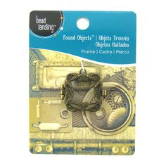 Found Objects™ Brass Frame Locket Charm by Bead Landing™