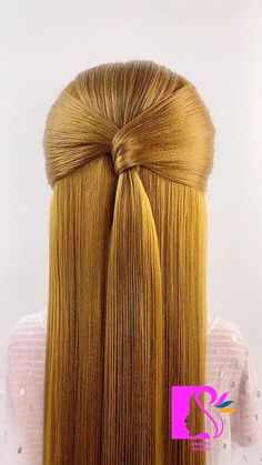 Wedding Bun Hairstyles, Elegant Hairstyles, Headband Hairstyles, Easy Hairstyles, Girl Hairstyles, Updo With Headband, Knotted Headband, Long Hair Ponytail, Hair Doo