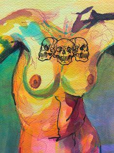 Arte Gcse, Guache, Funky Art, Hippie Art, Psychedelic Art, Art Drawings Sketches, Surreal Art, Art Sketchbook, Aesthetic Art