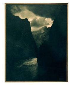 The Black Canyon, 1906  Gum Bicromate Print  Edward J. Steichen - brooding, dramatic  andrewsmithgallery.com