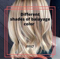Examples of shades of balayage 2017-2018