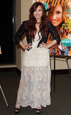 Demi Lovato Cropped Jacket - Demi Lovato Clothes Lookbook - StyleBistro