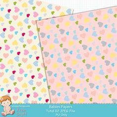 Free Digital Scrapbook Kits: Free Digital Baby Papers