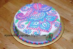 colorful henna cake / Mehndi