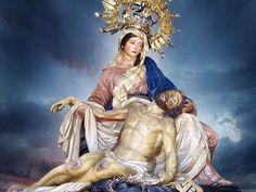 Oración a la Virgen de las Angustias para peticiones de 3 Imposibles  ¡Oh, Dolorosísima Virgen de la Angustias, Reina de los mártires y dulce madre mía! que permaneciste con firmeza ju...
