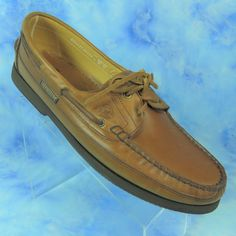b611a50167 Mephisto Spinnaker Hurrikan Brown Leather Boat Deck Shoes Size US 13 EUR 47  #Mephisto #