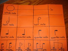 Foldable for note values and composition