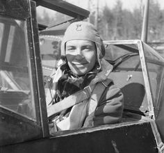 Finnish Air Force 1st Lt. Jorma 'Yotti' Saarinen in the cockpit of his Messerschmitt Bf. 109G2.  Saarinen got 23 kills in 139 missions. He died in unsuccesful forced landing after combat at one of the last missions at war.