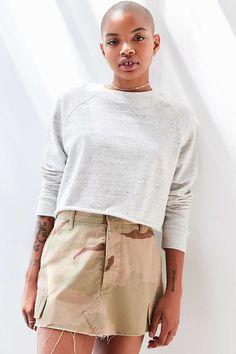 BDG Jeri Raglan Cropped Sweatshirt - Urban Outfitters
