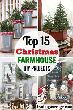 15 Christmas DIY Farmhouse Décor Ideas That You Need To Try Looking for Christmas Farmhouse Decor? These 15 DIY Farmhouse Decor Christmas Decor Ideas are exactly what you are looking for! Decorate for Christmas on a budget! Diy Home Decor Rustic, Trendy Home Decor, Rustic Crafts, Farmhouse Christmas Decor, Cheap Home Decor, Farmhouse Decor, Farmhouse Ideas, Christmas On A Budget, Christmas Diy