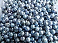 Free ship!!! A-1297 Promotion Stock Items - 1000pcs 2mm Big Hole 9-10mm Loose Freshwater pearl beads For Leather Jewelry $152.99