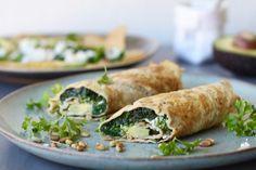Eierwrap met geitenkaas en spinazie, Gezonde ontbijt recepten, Glutenvrij ontbijten, Slank ontbijten, Suikervrij ontbijten, Gezonde foodblogs, Beaufood recepten
