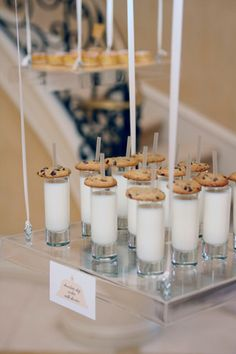 cookies & milk shots... great party idea