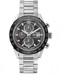 32b05a8ae44 Auth Tag Heuer Carrera Chronograph Automatic Mens Watch
