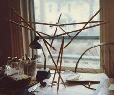 """Tensegrity cuboctahedron """"art"""", c.1981"""