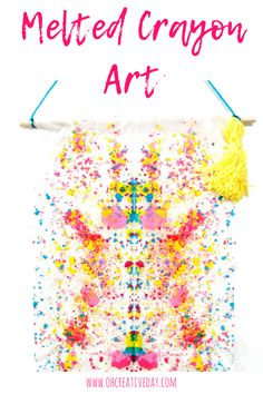Melted Crayon Art Melted crayon art is a simple project that combines a cool process with striking results. Easy Arts And Crafts, Fun Diy Crafts, Easy Crafts For Kids, Arts And Crafts Projects, Arts And Crafts Supplies, Toddler Crafts, Projects For Kids, Art For Kids, Kid Art