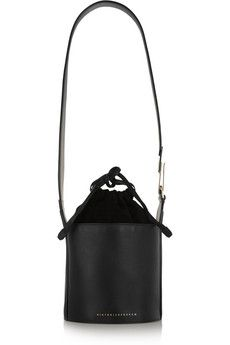 Victoria Beckham Leather and suede bucket bag | NET-A-PORTER