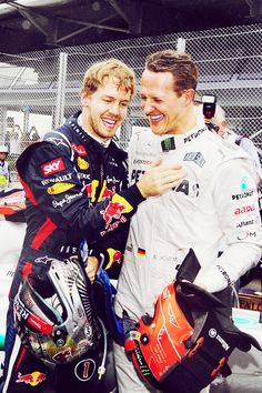 Photo of Vettel and Shumacher :D for fans of Sebastian Vettel 32863053 Mick Schumacher, Michael Schumacher, Karting, Car And Driver, F 1, Formula One, Champs, Race Cars, Motorcycle Jacket