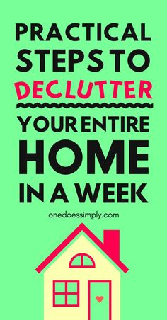 This is a genius tutorial to help you declutter your entire home in just 1 week. Is that really possible? For sure, dear. And you can do that too at your own home. This is how >> #declutter #home #homehack #organizing #organizingtips #minimalism #simple #simplicity #cleaninghack