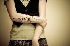 B cherry blossom branch - different placement (50 Insanely Gorgeous Nature Tattoos)