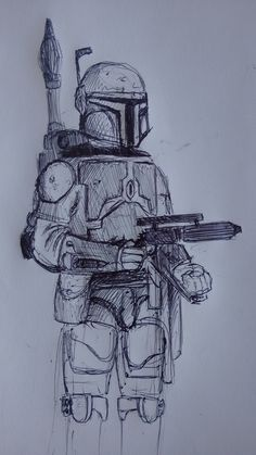 Boba fett star wars only pencil by Los