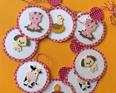 Craftstyle Farmyard Numbers Great For Kids 2 Sheet Pack Toppers