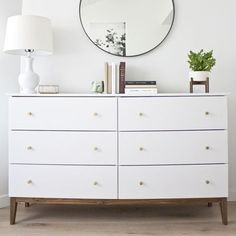 The master bedroom renovation is revealed for the Fall 2017 ORC (One Room Challenge). White 6 Drawer Dresser, Ikea Dresser Hack, Furniture Sale, Bedroom Furniture, Bedroom Decor, Kitchen Furniture, Bedroom Ideas, Ikea Bedroom Storage, Ikea Coffee Table