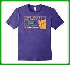 Mens Legendary Drinking Armor Level 21 T Shirt - Gamer Birthday 3XL Purple - Gamer shirts (*Amazon Partner-Link)