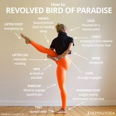 All the cues to rock your Revolved Bird of Paradise!   What are your favorite cues for this pose?
