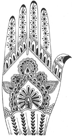 Heena Tattoos, Printable Mehndi Designs for Hand