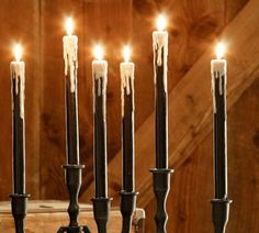 Drippy Wax Taper Candle